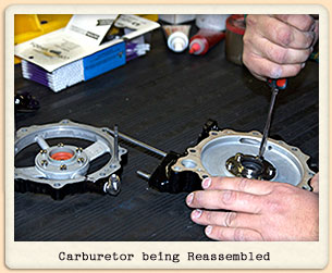 Receiving Carburetor for Overhaul